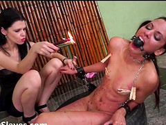Extreme lesbian domination and hot wax..