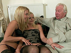 Outstanding threeway with an old guy,..