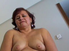 Chubby lady Angelica toying her pussy..
