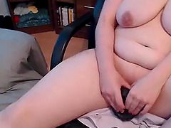Hot busty mature play with a vibrator..