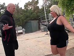 Big busty blonde slut fucked hard..
