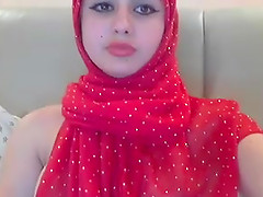 Solo girl on webcam