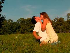 Teeny Couple Having Sex In The Park