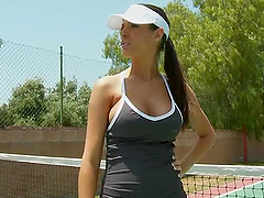 Kortney Kane  Rides Her Tennis..