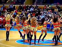Sexy cheerleaders perfomance