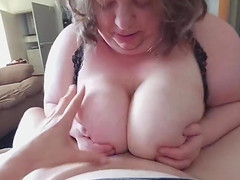 Finally fucking her huge 44H tits..