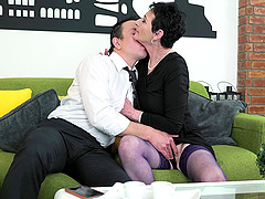 Mature woman Pixie opens her legs for..