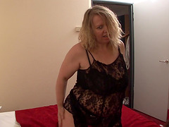 Chubby blonde Antonia is in need of..