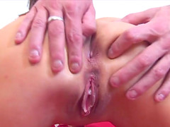 Slender Brunette Teen Ass Fucked And..