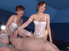 Superb FFM threesome with Tsubasa..