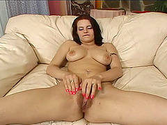 Horny woman is mesmerized by a..