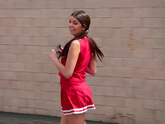 Olivia Lua is a kinky cheerleader who..