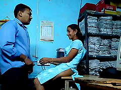 Indian girl gets fucked at work