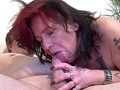 Mature Redhead and the good blowjob