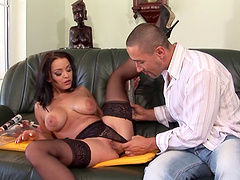 Toying and dicking luscious Liza Del..