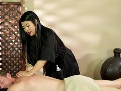 Hot Asian Nari Park seduces a guy with..