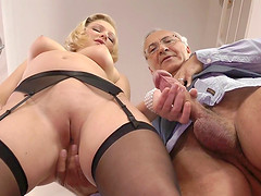 Old man fucks a very hot young lady