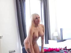 Clara Rubi is a blonde with massive..
