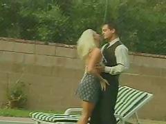 She was sunbathing before he grabbed..