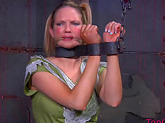 Curvy slave yelling when screwed using..