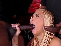 Aaliyah Hadid fucked by Dirk Huge, Moe..