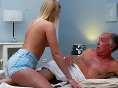 Blonde Teen Fucked Hairy Old Man she..