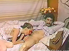 Masked housewife sucking her man off..