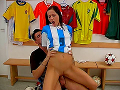 Sport babe fucks her coach for a..