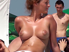 Awesome Teen At The Beach