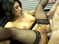 Milf slut squirts from his big cock
