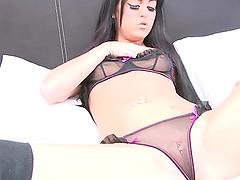 Slutty girl in sexy lingerie..