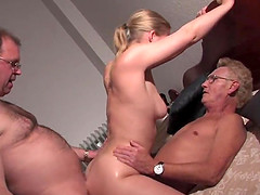 Hot Threesome with colleagues in the..