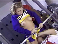 Natural tits cheerleader ravished..