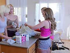 Eliza Jane and Lena Paul enjoy making..