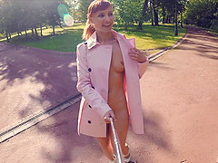 Jeny Smith fully naked in a park got..