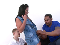 Cuckold Licks Pussy While a Black..