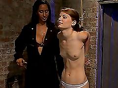 Pretty Brunette Lesbian Bondage Action..