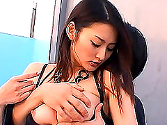 Asian With Lovely Titties Getting It..