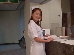 Japanese nurse sucks a dick and..
