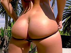 Sofi Ryan takes off her sexy underwear..