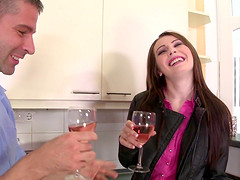 Timea Bela seduced by a hot hunk for a..