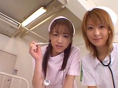 Naho Ozawa and another slutty nurse..