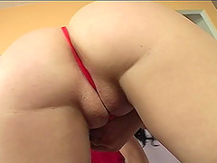 Delicious pussy of a brunette gets..