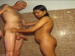 real indian threesome fuck orgy with..