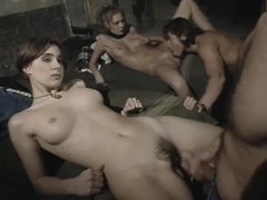 Young Italian women in sexy foursome