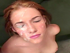 Sexy redhead Allie Sin, goes into a..