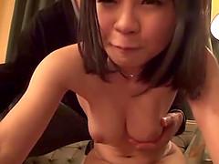 Cute Japanese woman sucks a cock..
