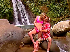 Sweet Blonde Pussy Licking and Outdoor Blowjob