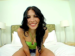 Spanish babe gets her hot pussy fucked..