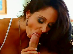 HD video with a hot brunette getting..